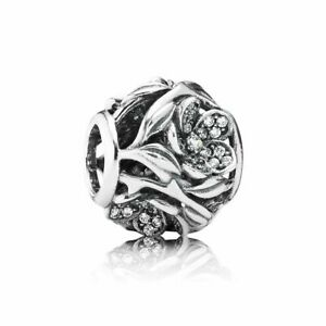PANDORA Openwork Pave Flower Charm, Clear CZ Solid .925 Sterling Silver