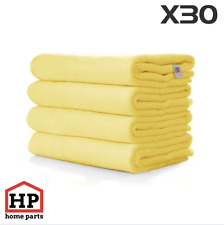 30 X Professional Washable Microfibre Cloths Extra-Large Super Thickness Yellow
