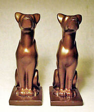Nice Great Dane Art Deco Antique Metal Bookends by the JF Company circa 1928