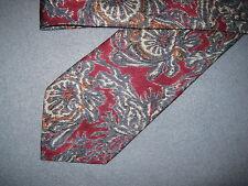 Mens Red Blue Print Silk Tie Necktie Adolfo ~ FREE US SHIP (6820)