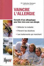Livre vaincre l'allergie Dr Catherine Quéquet  book