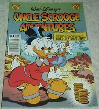 Walt Disney's Uncle Scrooge Adventures 34, NM- (9.2) Money Counting Machine!