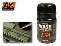 AK00045  AK Interactive - Enamel Wash: Dark Brown for Green vehicles