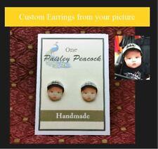 Custom Portrait Earrings from your Photo Christmas Gift