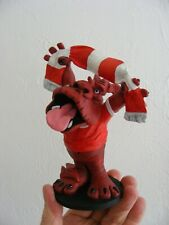 WELSH RED DRAGON RESIN ORNAMENT Jef 2000 HAND PAINTED DECORATIVE ORNAMENTAL DISP