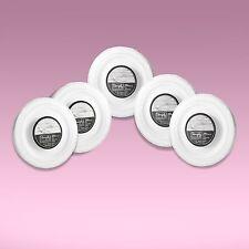 "200 x Elegant Disposable 10.25"" (26 cm) White Dinner Plates With Silver Rims"