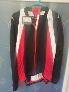 Gore Bike Wear Men's Oxygen Reflex Full Zip Jersey XXL 2XL Red/Black/White NWT