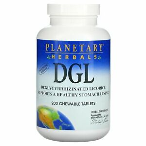 DGL, Deglycyrrhizinated Licorice, 200 Chewable Tablets