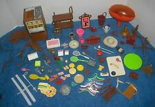 Vintage Western Barbie Horse Dallas Trailer Sadles Parts lot camping Mcdonalds