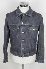 ENERGIE L giubbino giubbotto jeans denim jacket coat blu blue E6086