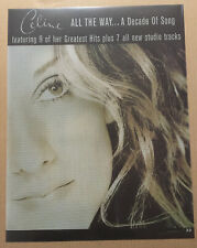 Celine Dion Rare 1999 Plastic Vinyl Promo Poster 4 Decade Cd Never Displayed Usa