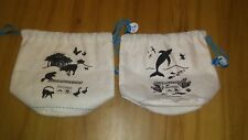 KLM ROYAL DUTCH AIRLINES 2  FABRIC BAGS  CHILDREN ON BOARD GAME+ACTIVITY BOOK