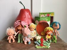 Strawberry Shortcake Berry Carry Case With Dolls Apple Lemon Blueberry Box Lot