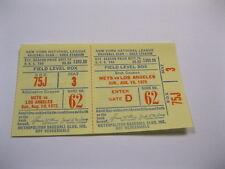 Aug 10, 1975  New York Mets vs LA Ticket Stub Shea Stadium 2