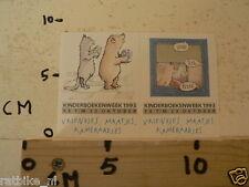 STICKER,DECAL KINDERBOEKENWEEK 1993 POES BEER CAT