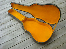 Vintage 1960's ES335 Gibson Badged Hardshell Case Black Yellow Lined ES-335 345