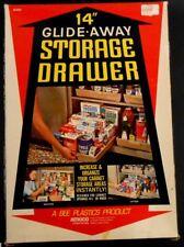 "Mid Century Modern 14"" Glide Away Storage Drawer for Cabinets in Original Box"