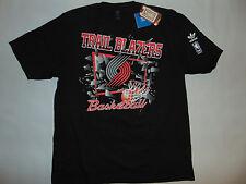 Portland Trail Blazers Mens Short Sleeve Shirt NBA Basketball Large Adidas Black