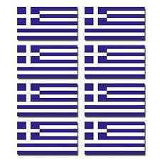 8 x Glossy Vinyl Stickers - Greece Greek Small Flag Sticker Bike Helmet #0194