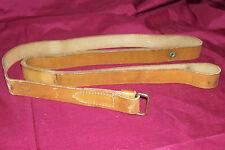 "Vintage Brauer Bros Brothers 1"" Leather Rifle Sling Shoulder Deer Gun Brown Old"