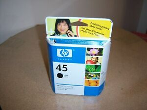 Genuine HP45 Black Ink Cartridge 51645A NEW/SEALED 03/2007 Ireland