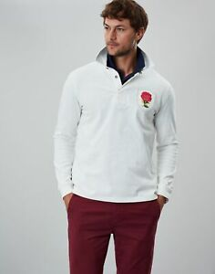 Joules Mens Glory Rugby Shirt - Antique Creme - L