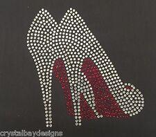 High Heels Fancy Shoes Classy Iron On Rhinestone Bling Car Decal 50-84