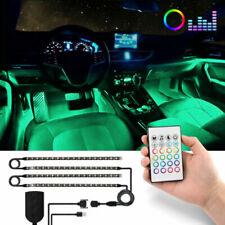 Rgb 32 Colors Car Auto Interior Neon Atmosphere Strip Light Music Remote Control