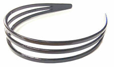 Wide Black Three Row Plastic Aliceband Headband Hair Accessory Hair Band