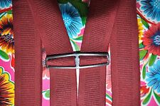 Vintage burgundy braces suspenders with clip fastening
