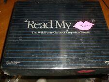 NEW Read My Lips Unspoken Words Game 1990 Pressman