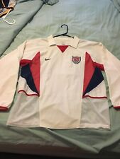 RARE Nike USA Soccer Jersey Vintage Long Sleeve 2002 World Cup