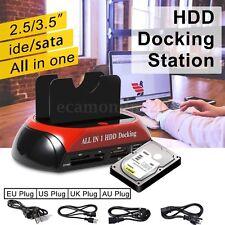 2.5'' 3.5'' IDE SATA USB 2.0 Dual HDD Hard Disk Drive Dock Docking Station OTB