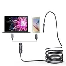 Pipe Inspection Camera HD 15 ft USB Endoscope Video Sewer Drain Waterproof 5M