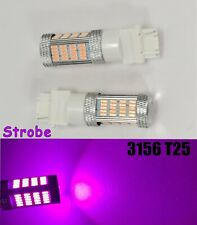 Strobe Reverse Backup 92 LED Bulb Purple T25 3156 3456 B1 #1 For Buick Mazd