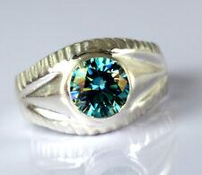 Valentine's Sconto 4.16 KT Rotondo Blue Diamond Solitario di Qualità Anello