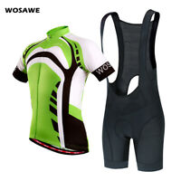 Mens Cycling Sets Bib Shorts Jersey MTB Road Bike Strap Short Pants Gel Padded