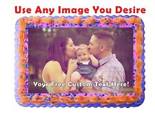 Photo Personalised Edible Cake Image Icing Birthday Party Topper A4 Decoration