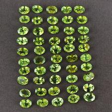 2  perfekte leuchtgrüne  Peridote 6 x 4 mm oval              (E31)