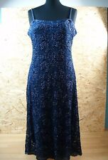 PHASE EIGHT Strappy Beaded Lace Dress UK 16/18  EUR 44 Indigo Blue NEW with tags