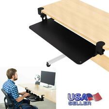 New listing 25 Inch Clamp On Under The Desk Keyboard Sliding Tray Computer Desk Extender Usa