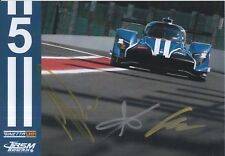 Robertson, Simpson, Roussel Hand Signed Ginetta 2018 Le Mans Promo Card.