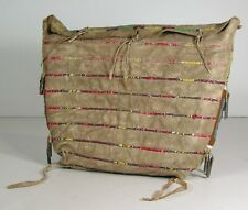 1890 Native American Sioux Indian Bead & Quill Decorated Hide Tepee Possible Bag