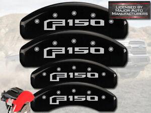 "2015-2020 Ford ""F150"" Front + Rear Black MGP Brake Disc Caliper Covers Mechanic"