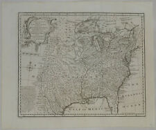 1747 Genuine Antique map North America. Louisiana. Florida. Canada. by E. Bowen