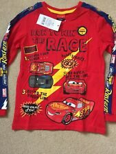 Disney Cars Long Sleeve Top Size 6-7 Years New!