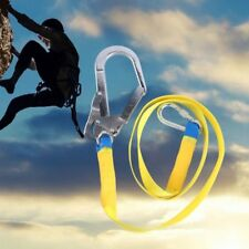 Safety Lanyard Climbing Harness Belt Fall Protection Rope with Carabiner Hook