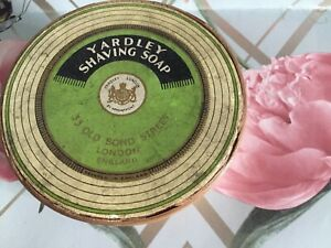 Original Vintage Yardley Shaving Wood  Box and Soap