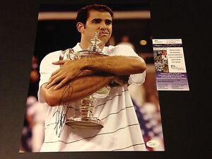 Pete Sampras Tennis Signed Auto 11x14 PHOTO JSA COA Certified