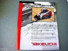 Takeuchi TL240 Rubber Track Loader Brochure